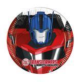 """8 petites assiettes en carton Transformers """"Robots in disguise"""""""