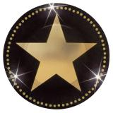 """8 petites assiettes en carton """"Glamour star"""" 17,8 cm"""