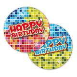 "Petites assiettes en carton ""Happy Crazy Birthday"" 6 pcs"