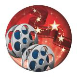 "8 petites assiettes en carton ""Hollywood Lights"""