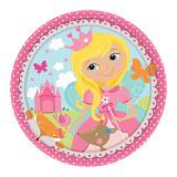 """8 petites assiettes en carton """"Douce princesse"""""""