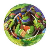 """8 petites assiettes en carton """"Tortues Ninja"""" 18 cm"""