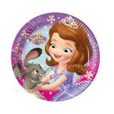 """8 petites assiettes en carton """"Princesse Sofia - perle des océans"""""""