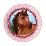 """8 petites assiettes en carton """"Adorable cheval"""""""