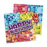"""16 petites serviettes """"Happy Crazy Birthday"""""""