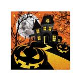 "16 petites serviettes ""Happy Halloween"""