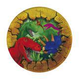 """6 petites assiettes en carton """"Dinosaures aventuriers"""""""