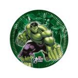 """8 petites assiettes en carton """"Avengers Assemble"""""""