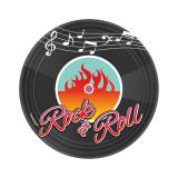 "8 assiettes en carton ""Rock & Roll"""