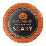 "8 petites assiettes en carton ""Scary Halloween"""