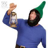 Bonnet de lutin avec barbe - vert