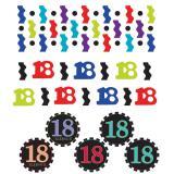 """Confettis """"18 ans - Zigzag"""" 34 g"""