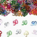 """Confettis """"50 ans"""" 15 g"""