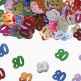 """Confettis """"80 Ans"""" 15 g"""