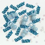 """Confettis """"Sucette bleue"""" garçon 14 g"""