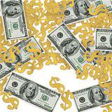 """Confettis """"Pluie de dollars"""" 14 g"""