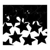 """Konfetti """"Einfarbige Sterne"""" 28 g-schwarz"""