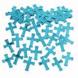 "Konfetti ""Farbenfrohes Kreuz"" 14 g-blau"