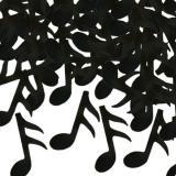 """Confettis """"Notes de musique noires"""" 28 g"""