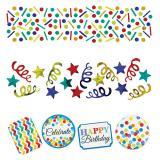 """Lot de confettis """"Anniversaire en couleurs"""" 34 g"""