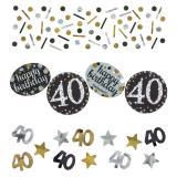 """Confettis """"Anniversaire scintillant"""" 40 ans 34 g"""