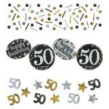 """Confettis """"Anniversaire scintillant"""" 50 ans 34 g"""
