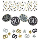 """Confettis """"Anniversaire scintillant"""" 60 ans 34 g"""