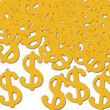 """Confettis """"Symboles dollars dorés"""" 28 g"""
