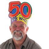 """Coiffe d'anniversaire """"50 ans"""""""