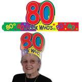 """Coiffe d'anniversaire """"80 ans"""""""