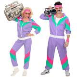 """Costume """"Fans de sport années 80"""" pour homme 2 pcs."""