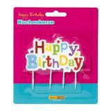 """Bougie pour gâteau """"Happy Birthday"""" 8,5 cm"""