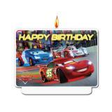 """Bougie pour gâteau """"Cars Neon City"""" 7 cm"""