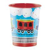 """Gobelet en plastique """"Train coloré animé 473 ml"""