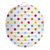 """Lampion """"Pois multicolores"""" 22 cm"""