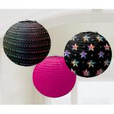 "Lampions ""Hot Disco Fever"" 3 pcs"