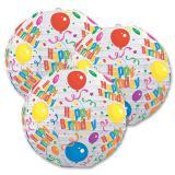 """3 lampions """"Happy Birthday"""" 24 cm"""