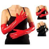 Longs gants vernis 56 cm