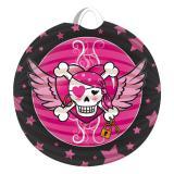 "Lanterne ronde ""Pirate Girl"" 22 cm"