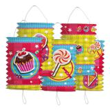 "Lot de 5 lanternes ""Candy"""
