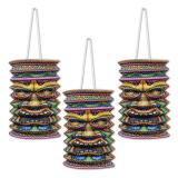 "3 lanternes ""Masque Tiki"" 23 cm"
