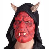 """Masque en latex """"Diable"""" avec capuche"""
