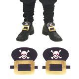 """Boucles de chaussures faux cuir """"Pirate"""""""