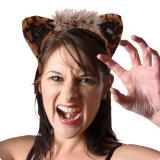 Serre-tête léopard avec oreilles