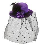 Mini-chapeau violet avec voile