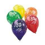 """Ballons de baudruche """"80 ans"""" 5 pcs."""