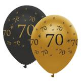 "Ballons de baudruche ""Black & Gold 70"" 6 pcs."
