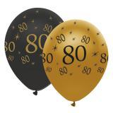 "Ballons de baudruche ""Black & Gold 80"" 6 pcs."