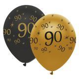 "Ballons de baudruche ""Black & Gold 90"" 6 pcs."