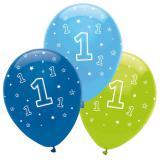 """6 ballons """"Jungle boy 1er anniversaire"""""""